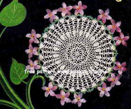 Violet Doily Doily Bouquet Star Book No 71 American Yarn Company