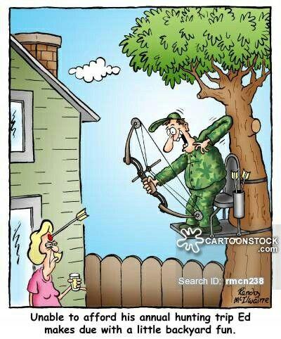 Bowhunting Cartoon Funny Hunting Pics Hunting Jokes Deer Hunting Humor