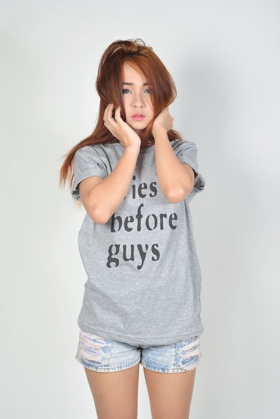 1dfce07c704 Fries Before Guys T-Shirt Funny T Shirt Tumblr Hipster Teen Women TShirt