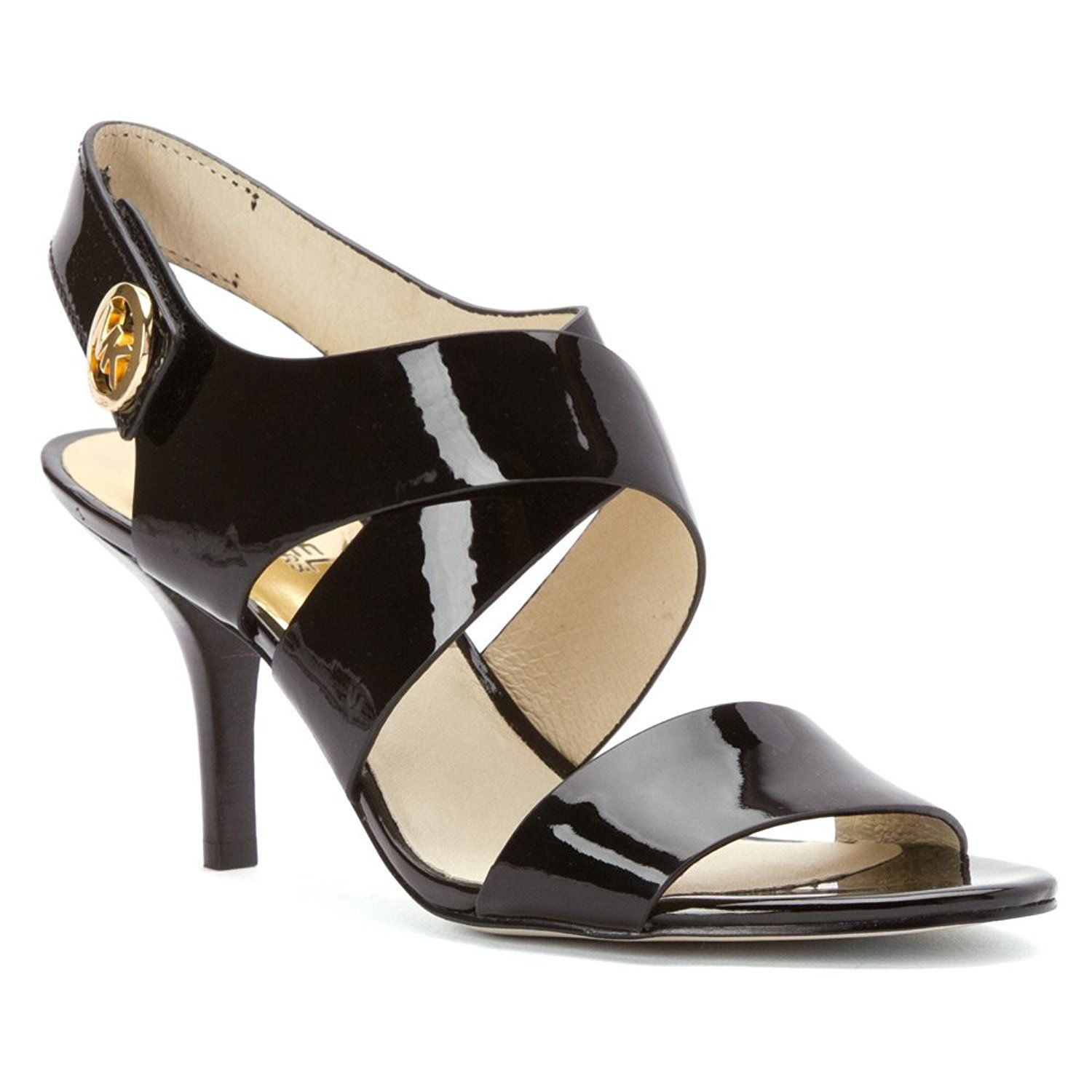 f92f180e985a MICHAEL Michael Kors Women s Joselle Open Toe Pump Black Patent 9.5 M US     See this great product.  womenshoe