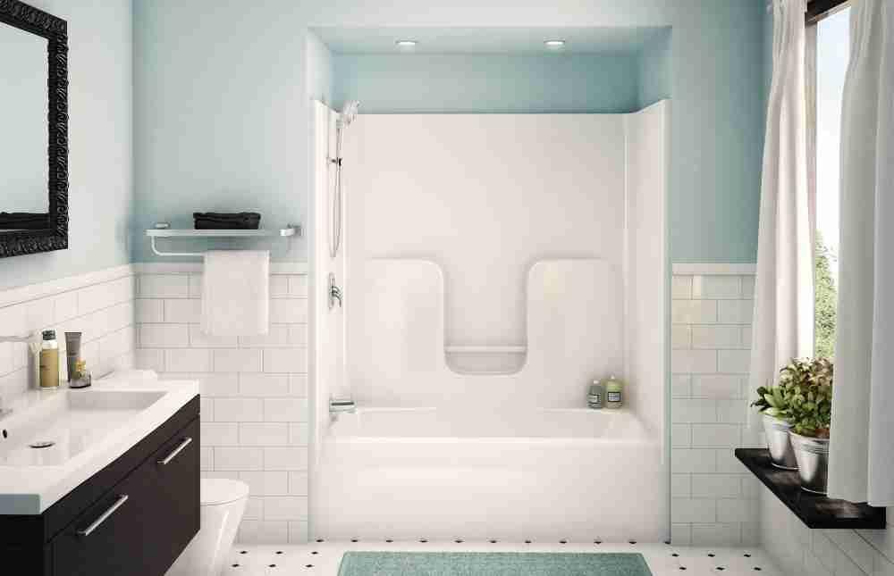 Fibergl Bathtub Shower Combo