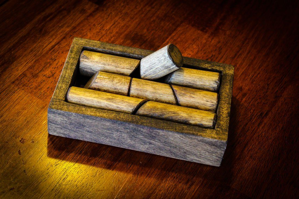 Wood Dowel Puzzle Wood, Wood puzzles, Wooden puzzles