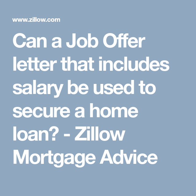 Can A Job Offer Letter That Includes Salary Be Used To Secure A