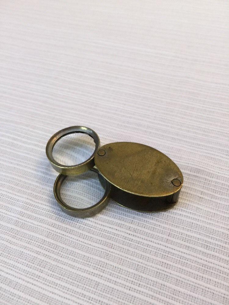 Vintage Brass Folding Magnifying Glass Loupe Vintage Brass