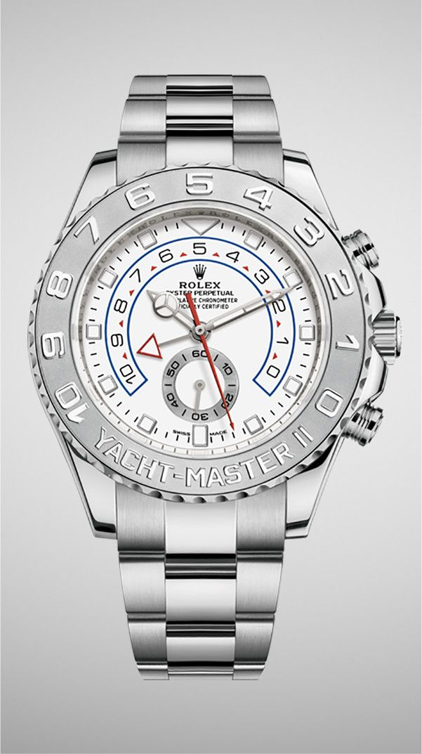 The Rolex Yacht,Master II in 18ct white gold is the only