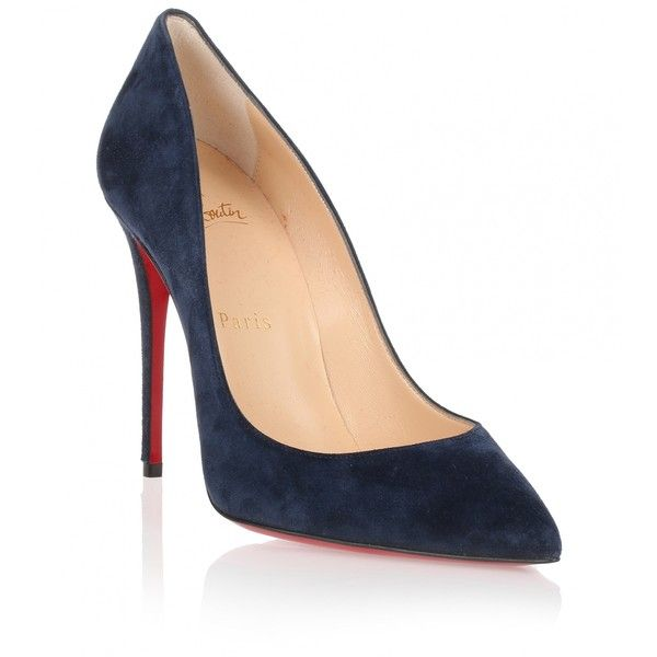 info for fc9d6 0119d Christian Louboutin Pigalle Follies 100 dark blue suede pump ...