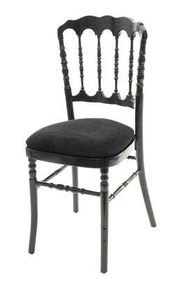 Chaise Napoleon 3 Noire Coussin Noir Chair Chiavari Dining Chairs