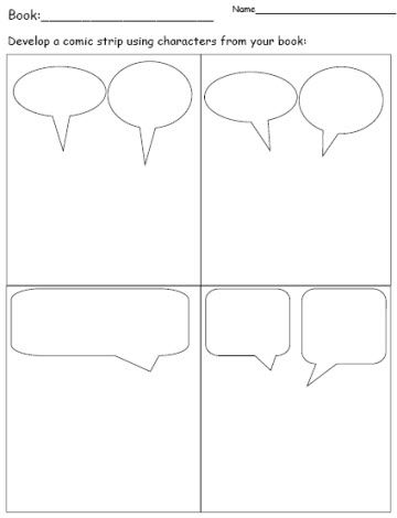 Comic Strip Template Pages For Creative Assignments - Tracee Orman