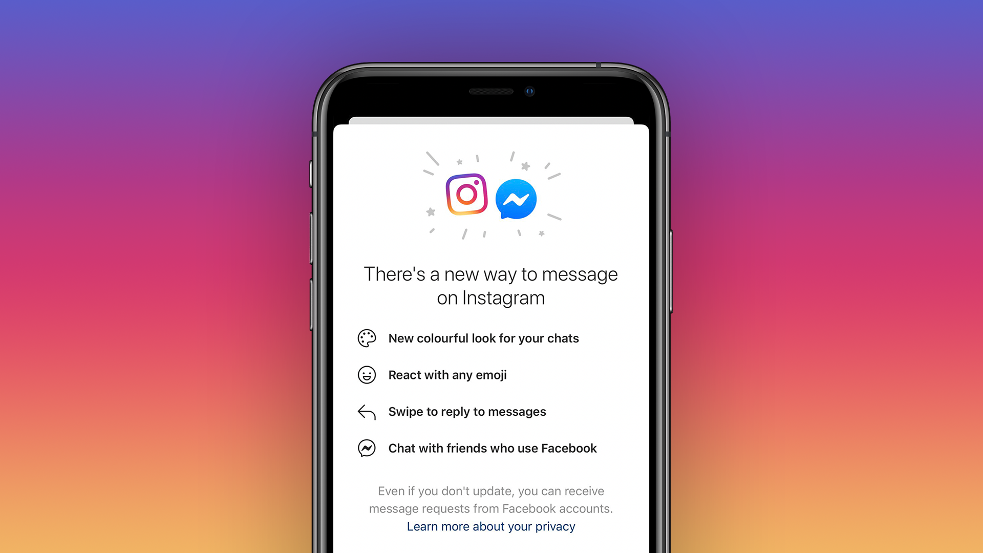 It Was Last Year When Rumors Were Popping That Facebook Might Replace Instagram Direct With Messenger Chats It Look Facebook Messenger Messaging App Instagram