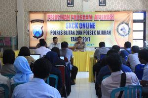 Polres Blitar Gelar Pelatihan Input Data Skck Online Bersama Tim