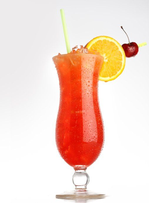 Hurricane Serves 10-12 12 ounces light rum 12 ounces dark rum 10 ounces grenadine 10 ounces fresh orange juice 10 ounces fresh lime juice 3 tablespoons superfine sugar 1 large orange, cut into 1/4-inch thick rings Mix all the ingredients and stir until sugar dissolves. Pour into a punch bowl. For authenticity, serve in tall, shapely glasses over ice with straws.
