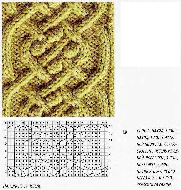 шишечки и косы | Cable Stitches | Pinterest | Dos agujas, Puntos y ...
