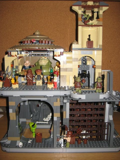 Moc Lego Jabbas Palace And Rancor Pit Upgrade Legos And Food