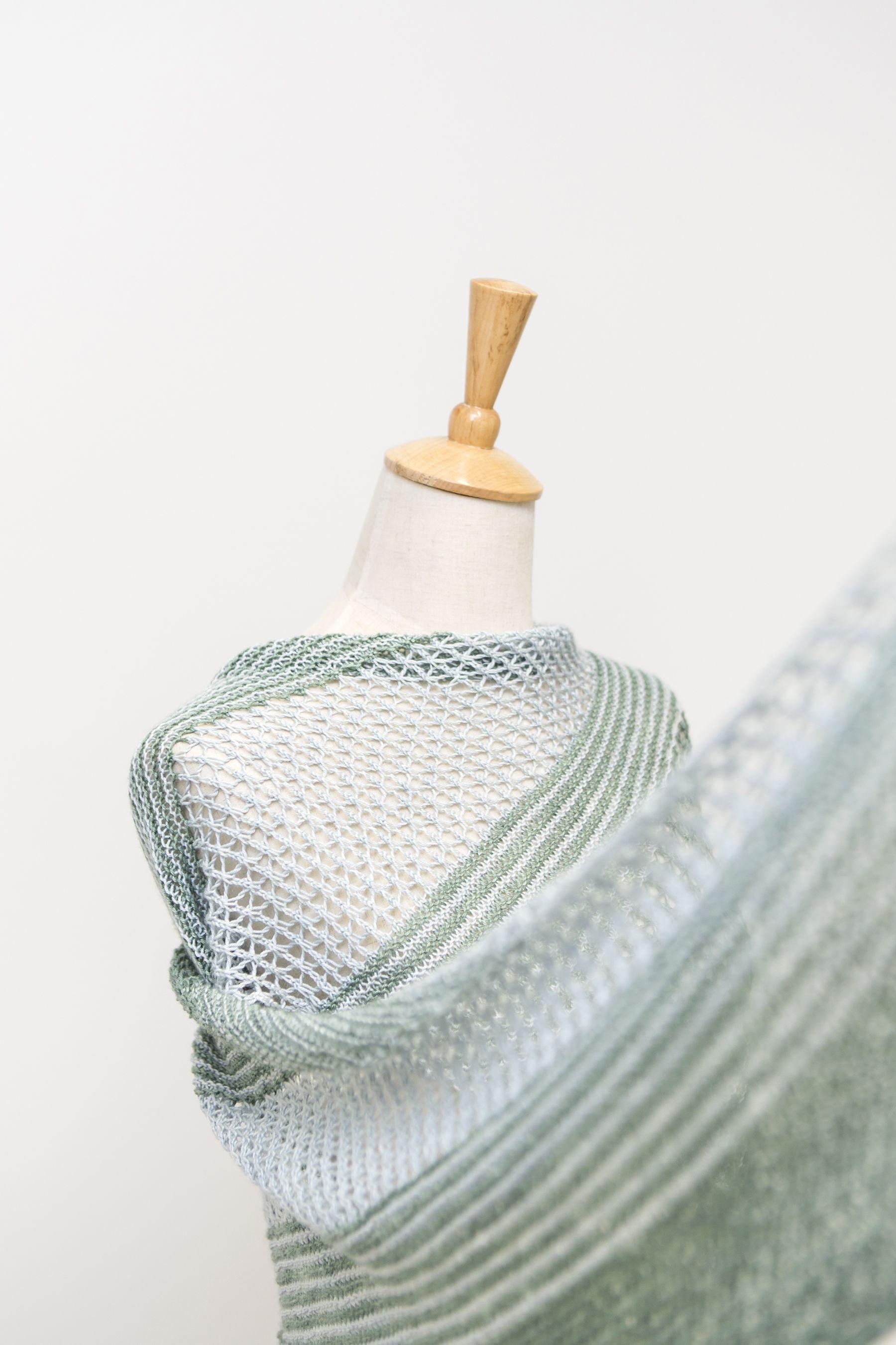 Ravelry: Sea Grass shawl with DyeForYarn Merino/Silk Fingering - knitting pattern by Janina Kallio.