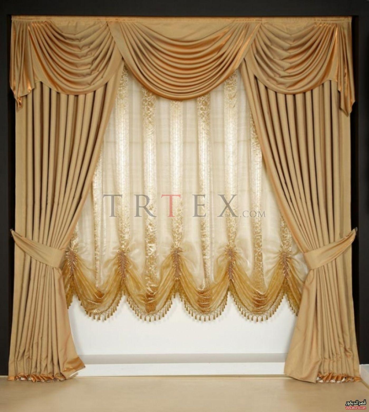 ستائر صالونات تركية Curtain Designs Luxury Curtains Curtain Decor