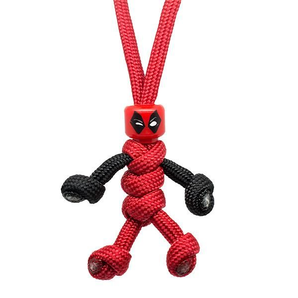 HAND MADE IN UK Deadpool PARACORD BUDDY keyring