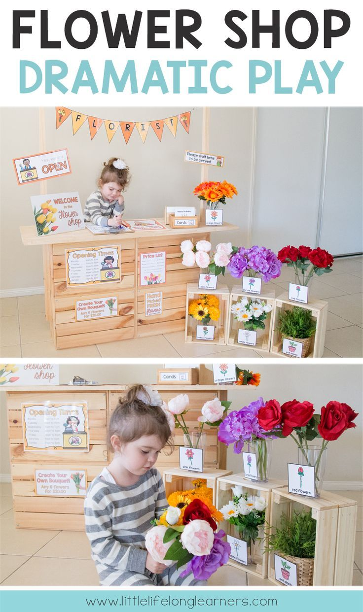 Flower Shop Dramatic Play Set #summerfunideasforkids