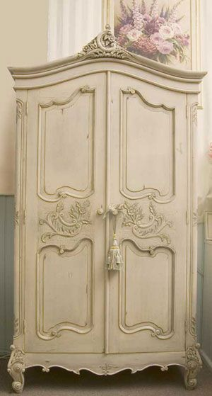 white wood wardrobe armoire shabby chic bedroom. Malmaison Botanical Interiors French Provincial Furniture Country Brands Laguiole La Rochere Shabby Chic Homewares - Louis White Wood Wardrobe Armoire Bedroom B