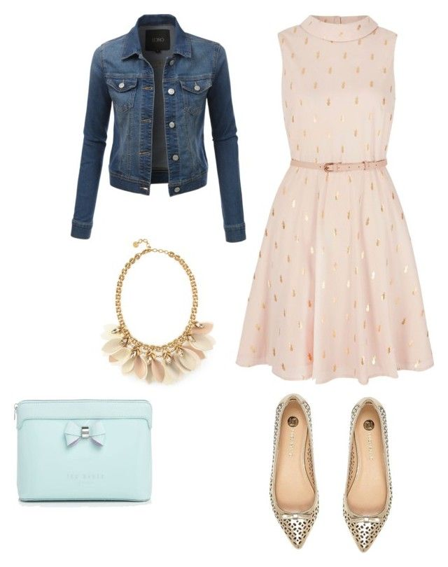 Chiffon Dream by balletlover11 on Polyvore featuring polyvore, Yumi, LE3NO, Stella & Dot, Ted Baker, River Island, fashion, style and clothing
