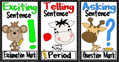 Punctuation and parts of speech posters.  Super cute for our school safari theme!
