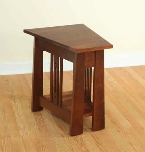 Amish Made Mission Style Wedge Table   Aspen Collection   Burres Oak    Craftsman   Arts