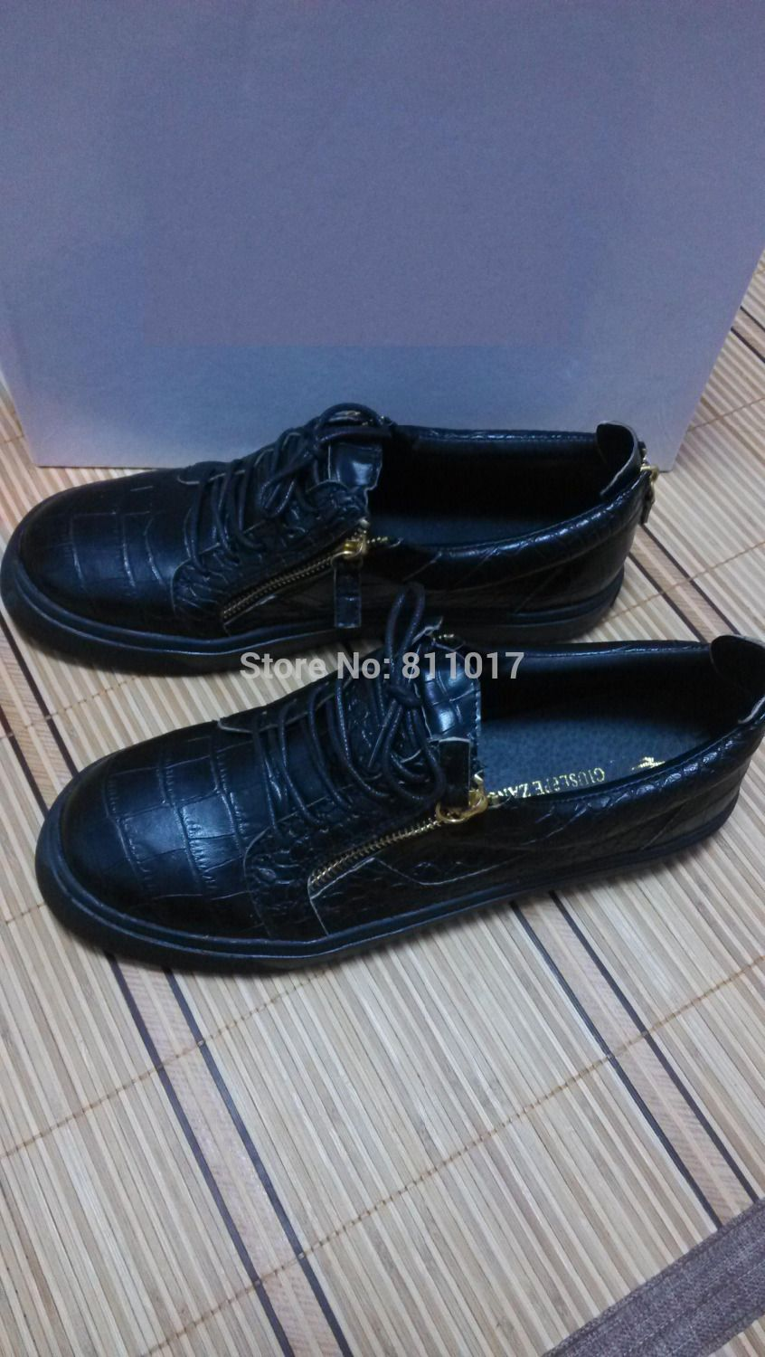 Find More Flats Information about Free Shipping!!!woman man zanotty black leather low top lace up sneakers plus size 35 46 popular giuseppe shoes on sale,High Quality sneakers dresses,China sneakers shoes for women Suppliers, Cheap shoes lv from Brand Products Co,.Ltd on Aliexpress.com