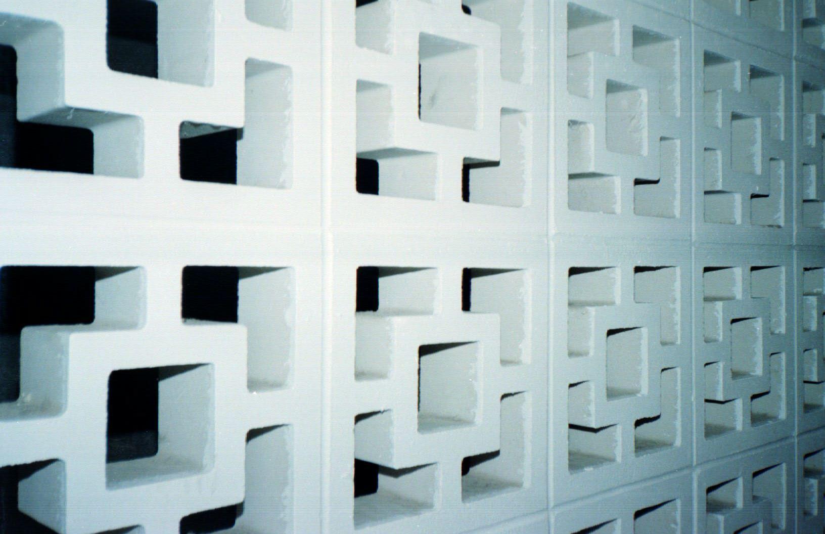 Brick Lattice Wall At A Hotel Love The Concrete Blocks Lattice Wall Concrete Blocks Privacy Walls