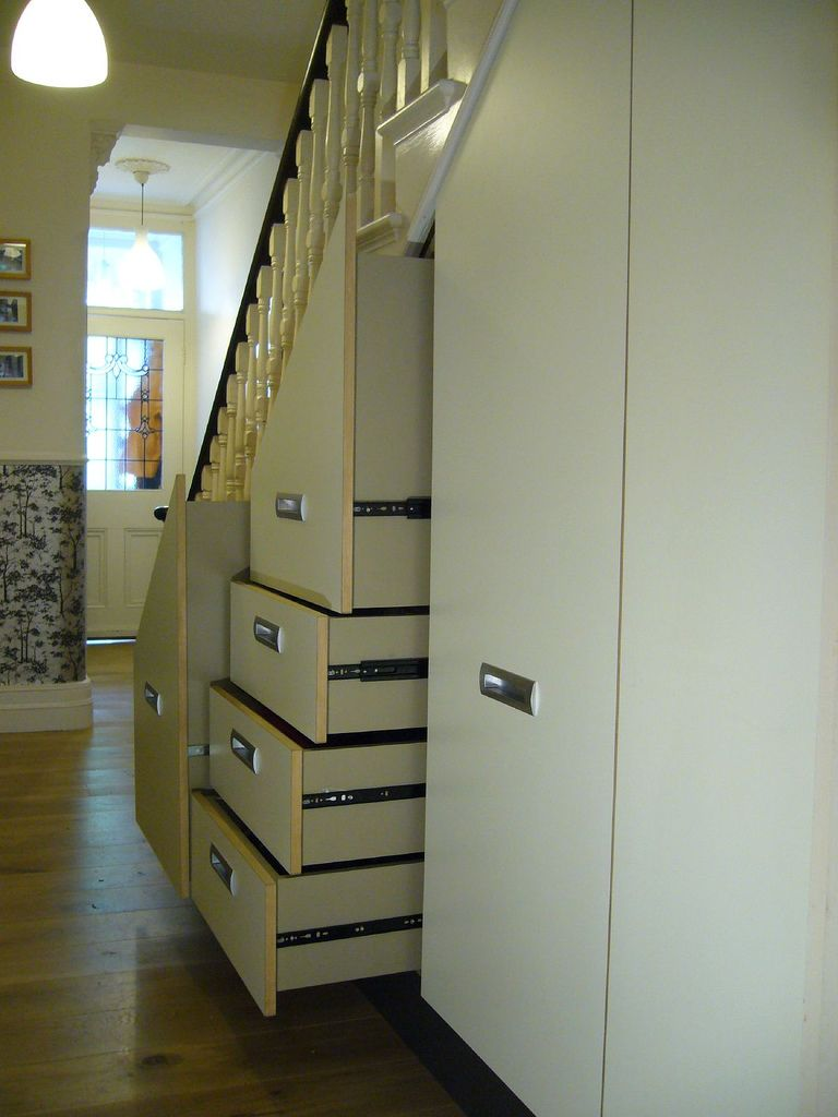 Elegant under stairs white cabinet storage pinterest for Under the stairs cabinet