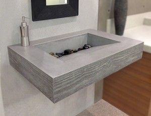 Find This Pin And More On Bathroom By Mielligurl. This Trueform ADA Floating  Concrete Bathroom Sink ...