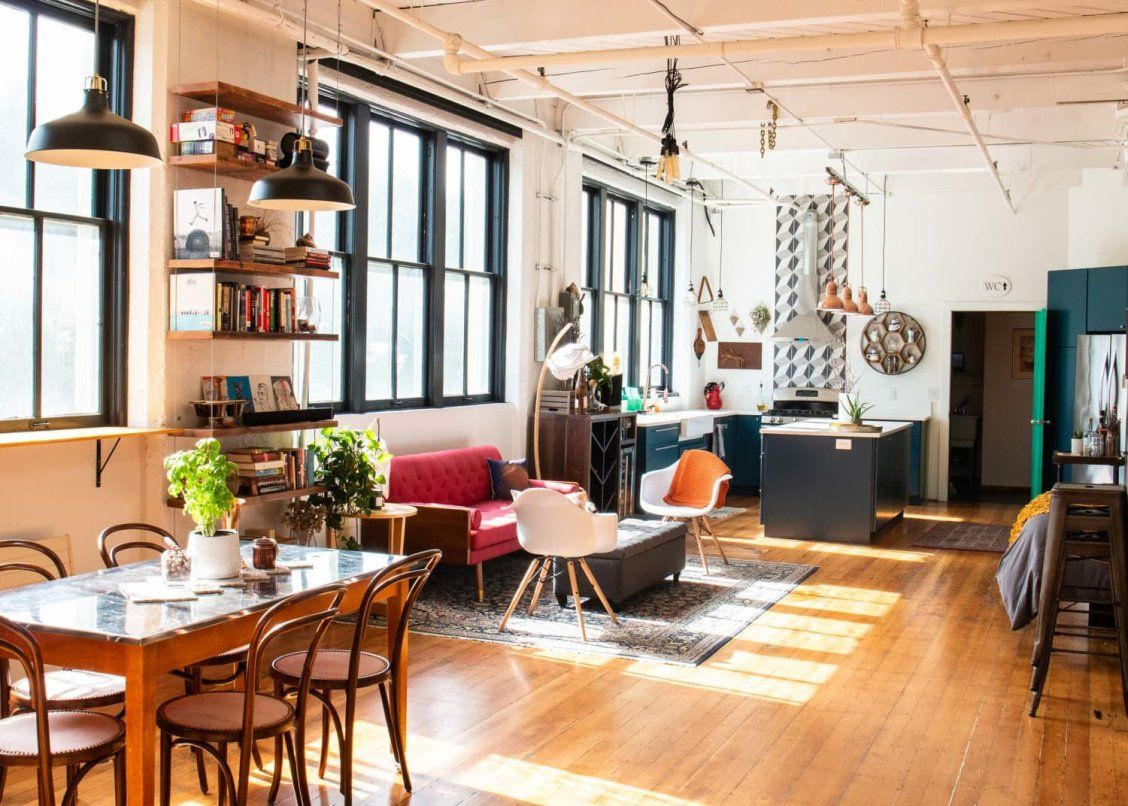 This Seattle Home Is A Lesson In How To Create Rooms When You Have No Walls Home Home Decor Seattle Homes #warm #industrial #living #room