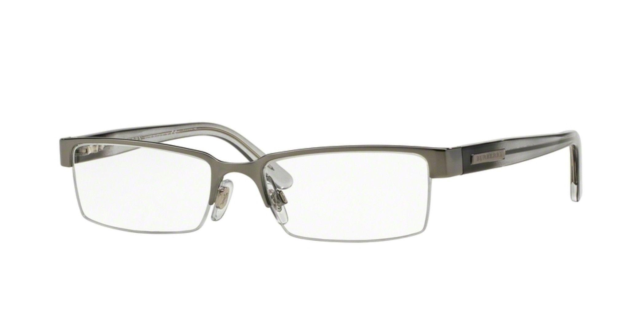 3e9ecd0951 Burberry OBE1156-1003 Semi Rimless Gunmetal Frame