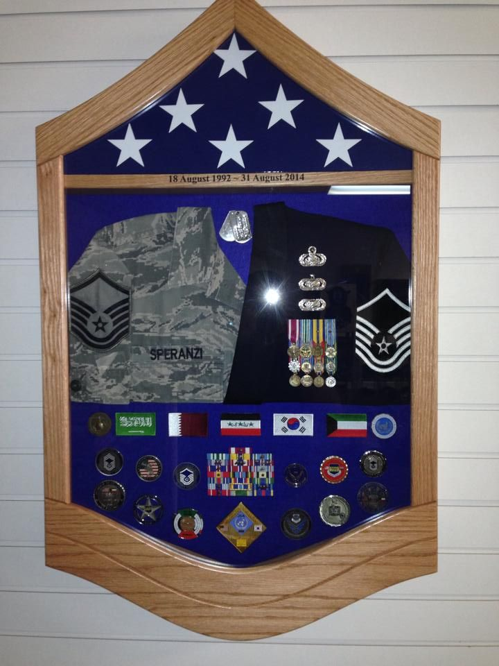 master sergeant uniform shadow box by us