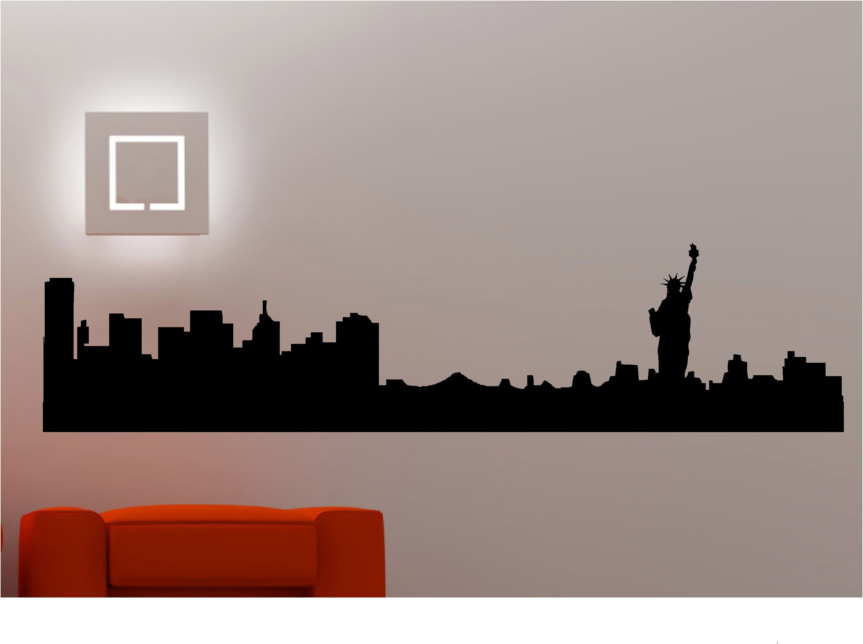 New york city skyline wall stickers decals vinyl art black decal new york city skyline wall stickers decals vinyl art black decal allposters amipublicfo Images