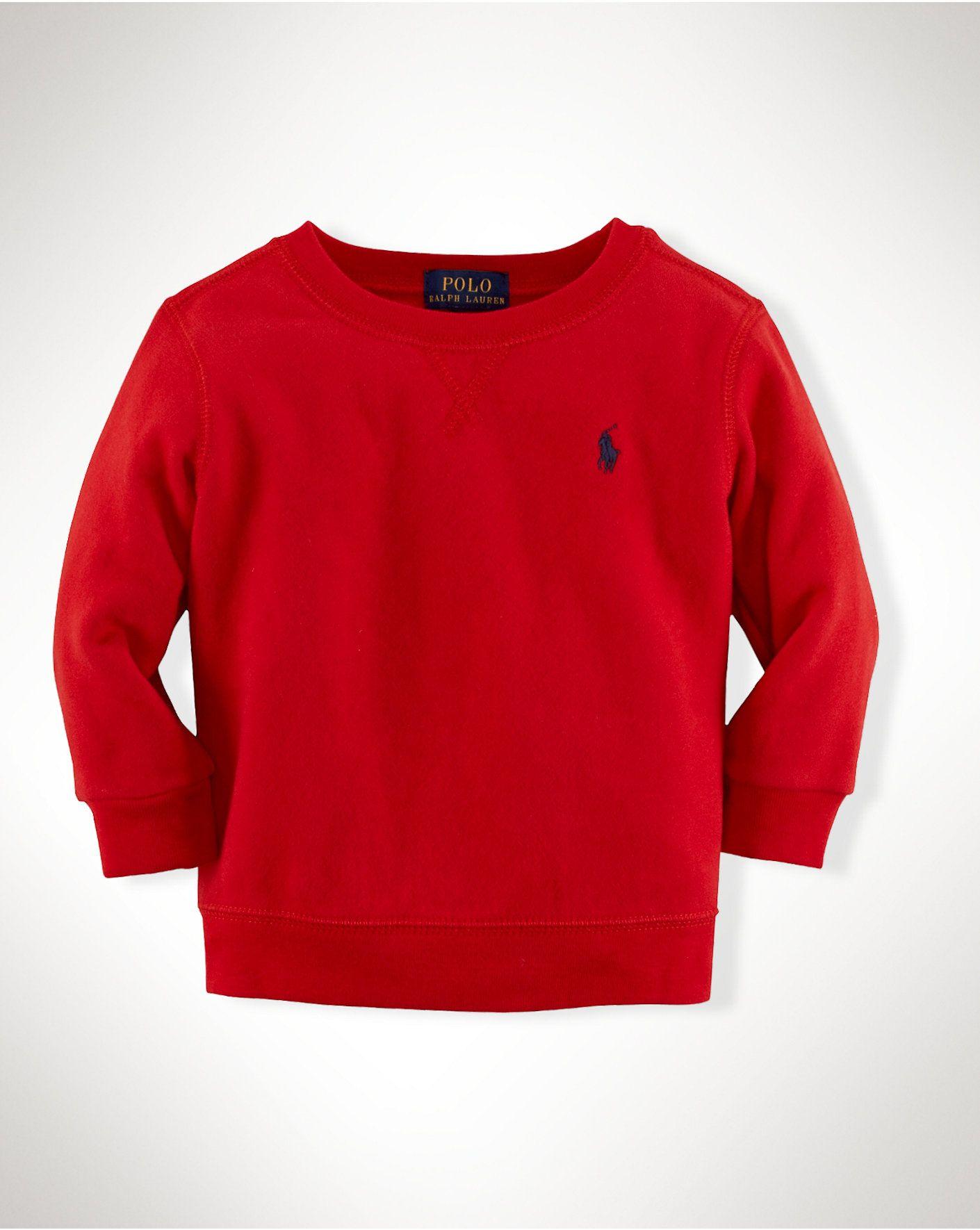Cotton Fleece Pullover - Sweatshirts  Infant Boy (9M–24M) - RalphLauren.com