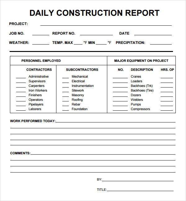 best photos of daily report template daily production report template daily report