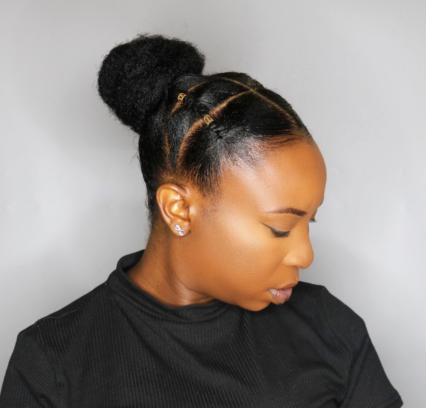 African Threading Updo On Short Hair Video Https Blackhairinformation Com Video Gallery Africa Natural Hair Styles Short Hair Updo Short Hair Styles Easy