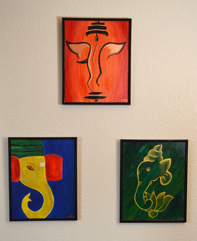 Etsy Art Ganesha Acrylic Canvas Paintings On My Etsy Shop Https Wwwetsy