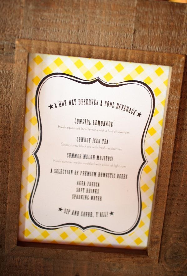 Great Menu card for beverage station ~ real RD