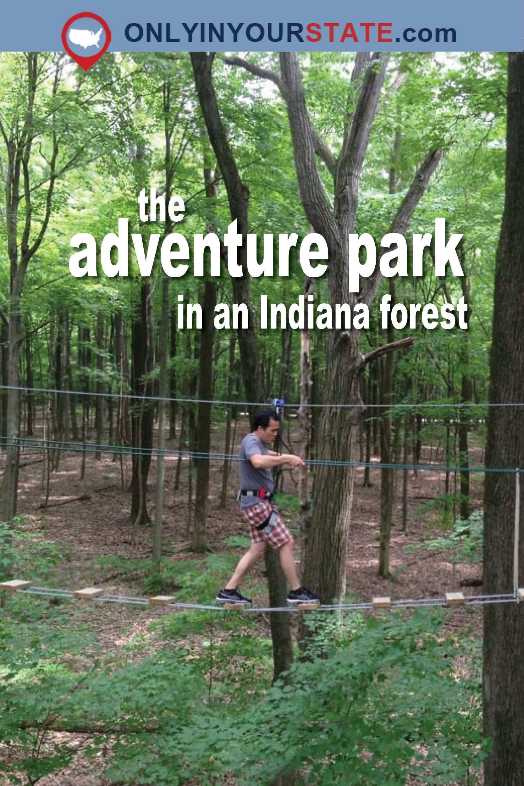 There's An Adventure Park Hiding In The Middle Of An Indiana Forest