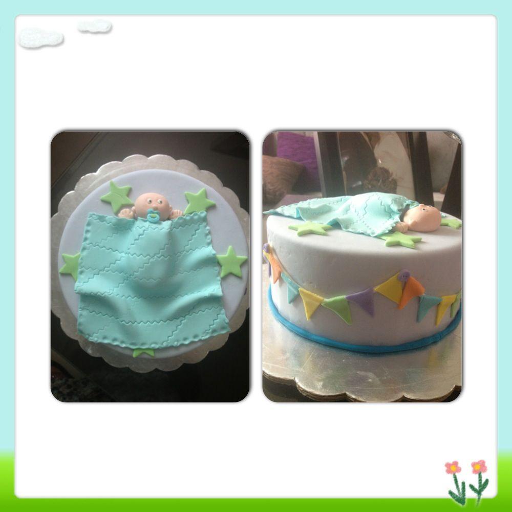 cb27bbaea Tortas Para Baby Shower De Cigueña Fantasia Baby Shower  Pastel Para Baby  Shower Con Fondant.