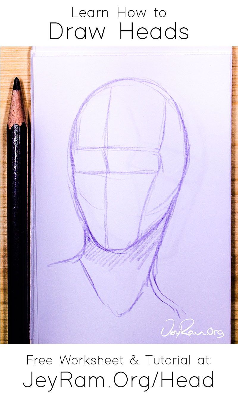 How To Draw The Head From Any Angle Step By Step Tutorial For Beginners In 2020 Drawings Tutorial Drawing The Human Head