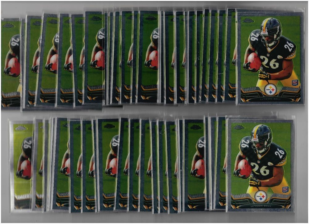 50 Card Lot of 2013 Topps Chrome Football Le'Veon Bell Rookie Cards #198  #PittsburghSteelers