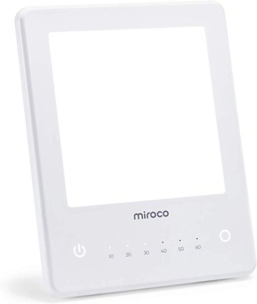 Amazon Com Light Therapy Lamp Miroco Led Bright White Therapy