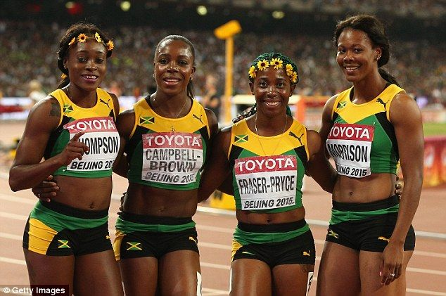 Bolt wins third World Championships gold as Jamaica win ...