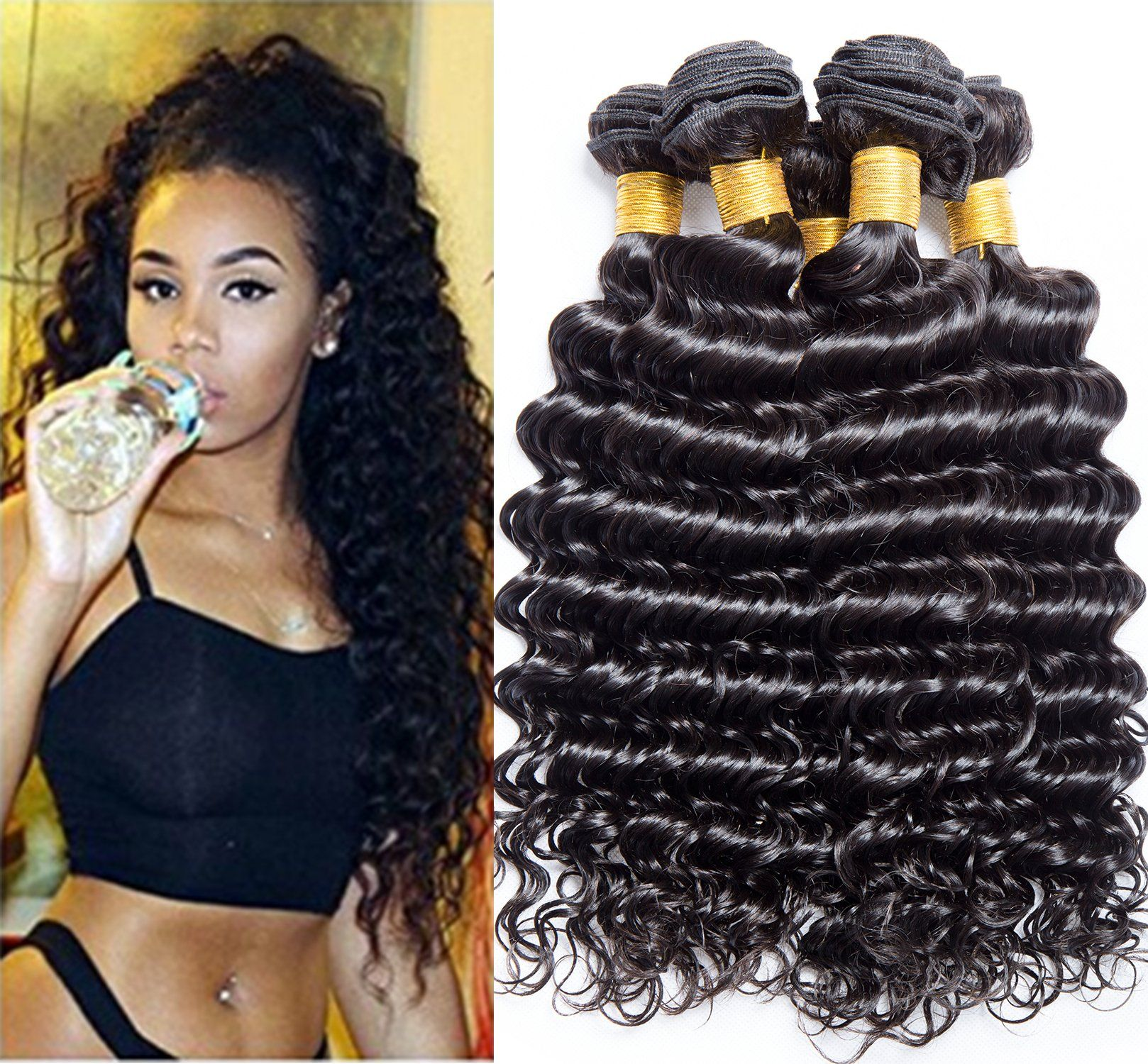 Vipbeauty Hair 8a Grade Good Quality Brazilian Curly Hair Weave 3