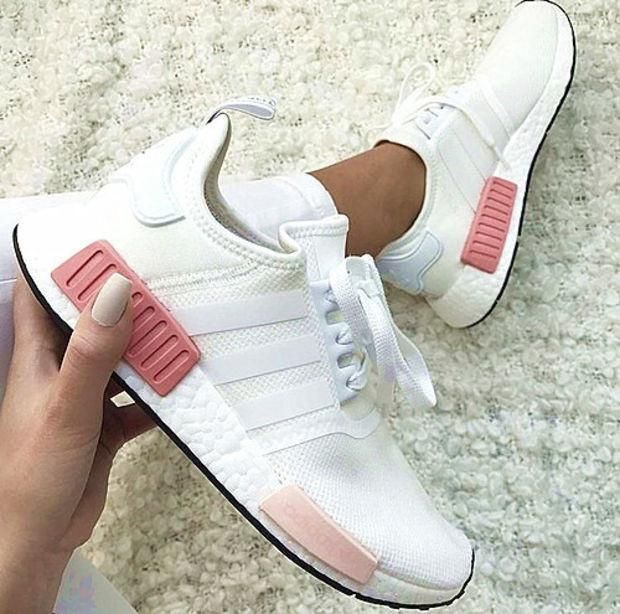 Simpleclothesv Adidas Nmd Fashion Sneakers Trending Running Sports Shoes Whtie Pink Adidas Nmd Fashion Womens Athletic Shoes