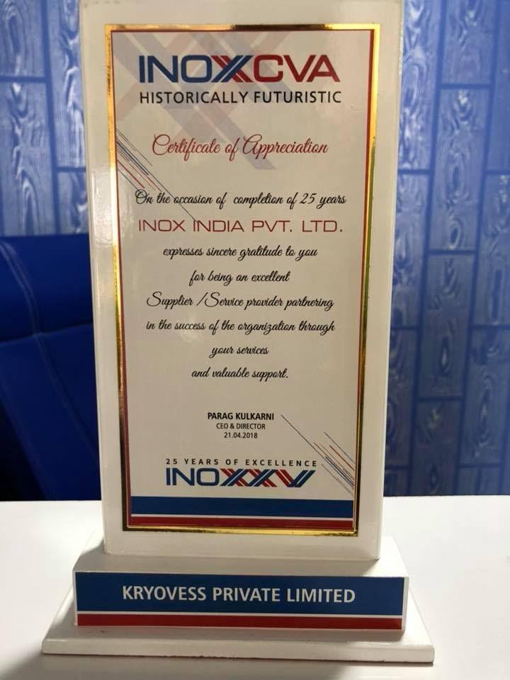 certificate of appreciation inox cva kryovess pinterest