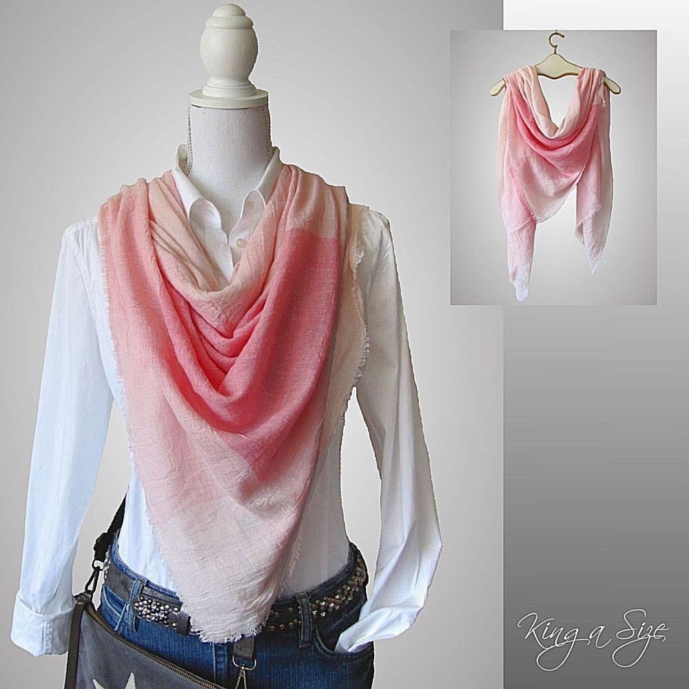 bab99c7de8961f Sommer Tuch / Halstuch Schultertuch Kopftuch Schal Pastell Farben - rosa