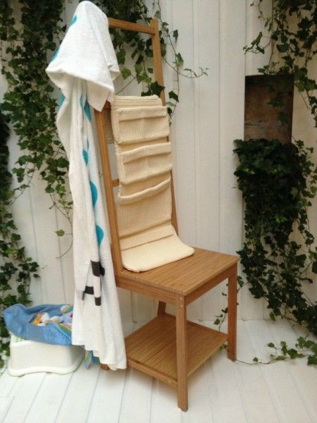 Chaise porte serviette r grund 35 bathroom pinterest for Porte serviette salle de bain ikea