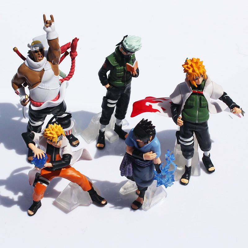 $13.60 (Buy here: http://appdeal.ru/9rqe ) Free Shipping Naruto 1set 10-15cm Naruto Shippuden Sasuke Uzumaki Kakashi Doll Dolls Full 5pcs Premium Gifts (1set=5pcs)  Retail for just $13.60